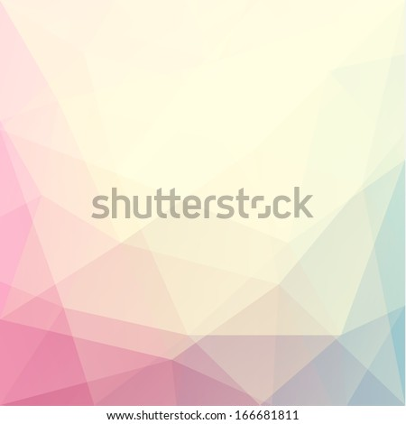 abstract triangle art in pastel