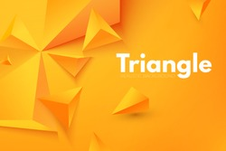 Abstract Triangle Background. 3D Triangles. Modern Wallpaper. Vector illustration