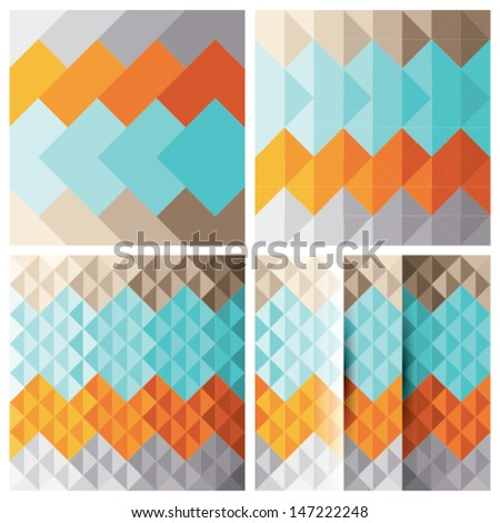 Abstract triangle background set