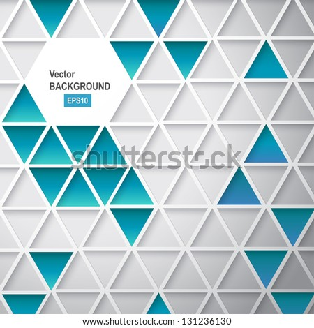 Abstract triangle background. Vector illustration, contains transparencies, gradients and effects.