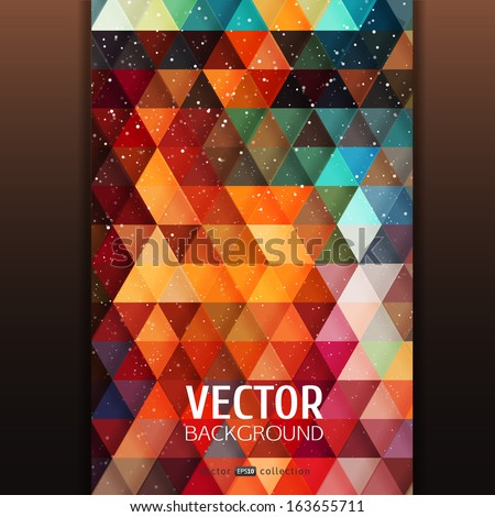 abstract triangle banner with