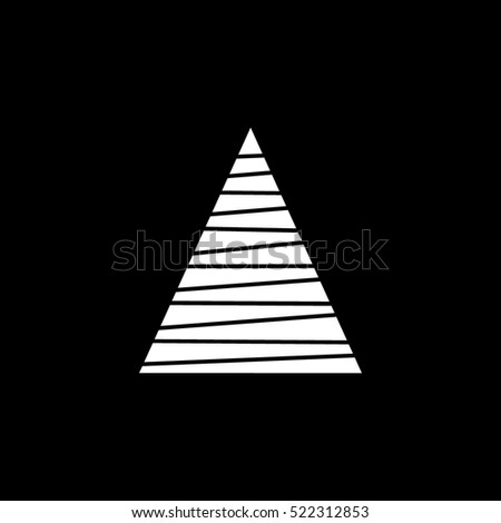 abstract triangle Christmas Tree Flat Icon On Black Background #522312853