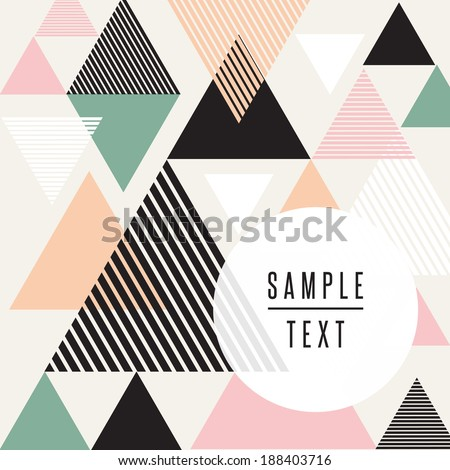 abstract triangle design with