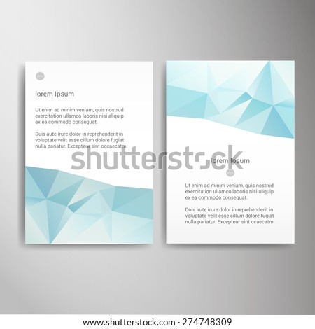science brochure template - abstract triangle polygon science education brochure flyer