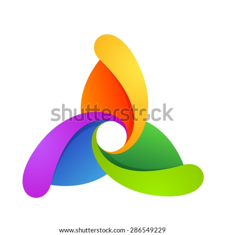 abstract triangle rotation logo