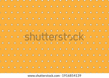 Abstract. triangle seamless pattern on yellow background. design for pillow, print, fashion, clothing, fabric, gift wrap, mask face. Vector. Stock photo ©