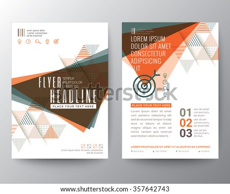 abstract triangle shape poster