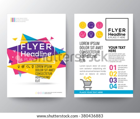 Abstract Triangle shape Poster Brochure Flyer design Layout vector template in A4 size #380436883
