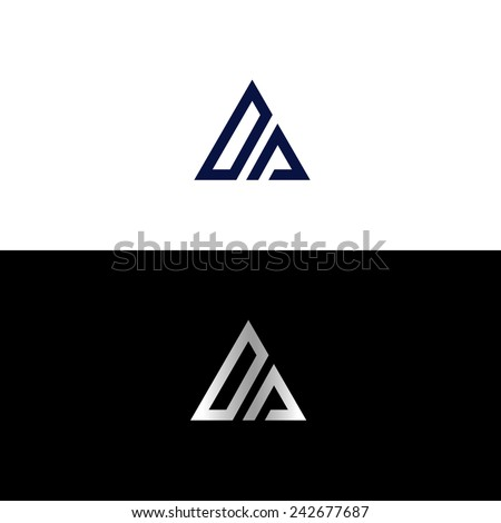 abstract triangle shape with