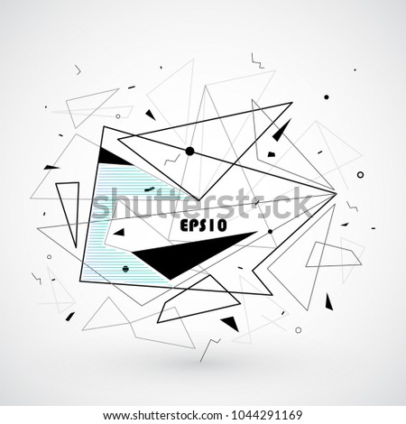 Abstract triangle shapes. Vector Illustration. Abstract  technology background