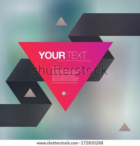 abstract triangle text box with