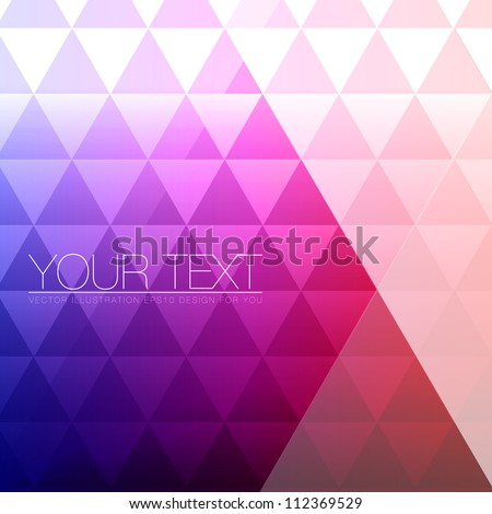 Abstract Triangles Background for Design - Geometric Vector Illustration