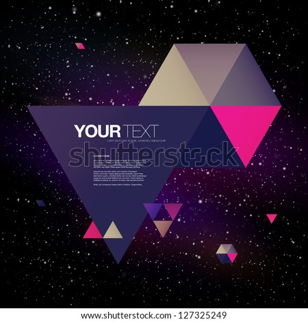 abstract triangles text box