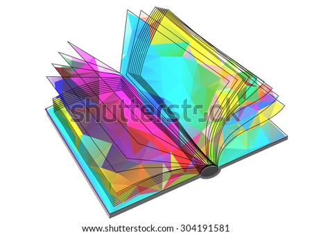 abstract triangular book