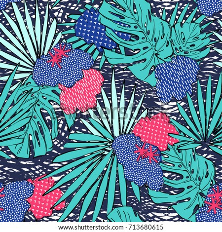 abstract tropical pattern  for