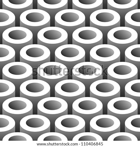 abstract tubes 3D seamless pattern background