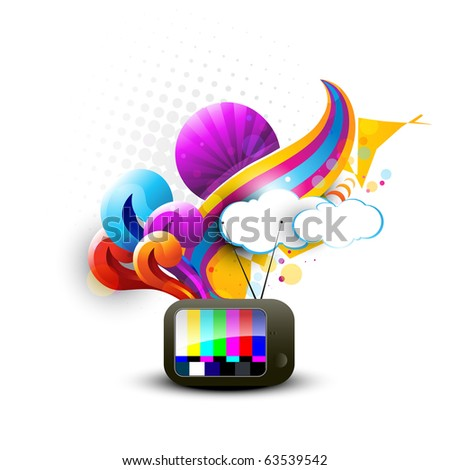 abstract tv vector artistic
