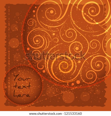 Abstract twirls vector greeting card