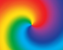 Abstract twist color radial gradient rainbow background. Vector illustration.