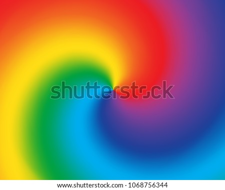 abstract twist color radial