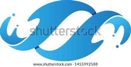 Abstract twist water splash on the white background. Water splash for element design. Vector illustration EPS.8 EPS.10