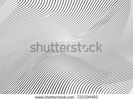 Abstract twisted background. Lines of variable thickness. Halftone effect line pattern.  Grunge modern pop art texture for poster, banner, business cards, cover, postcard, design, labels, stickers.