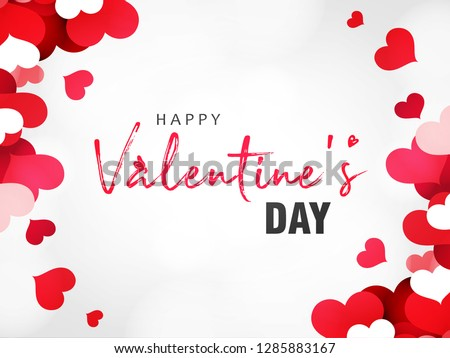 Abstract typography Happy Valentines Day Sale design vector with handwritten calligraphy text, isolated on love based theme background. can be used as valentine love greeting card,header, banner