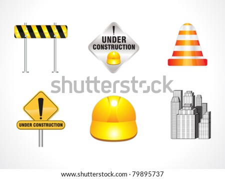 abstract under construction icons vector illustration - stock vector