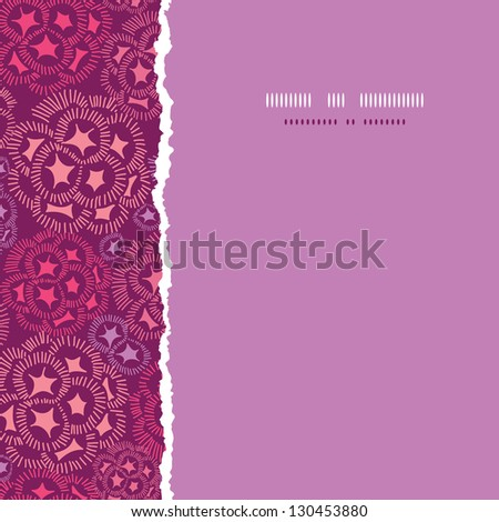 Abstract underwater flowers square torn seamless pattern background