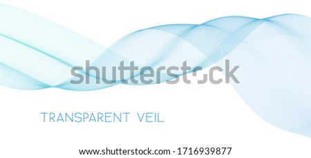 Abstract undulating transparent veil on white background. Subtle vector graphic pattern Stockfoto ©