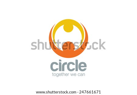 abstract union circle shape