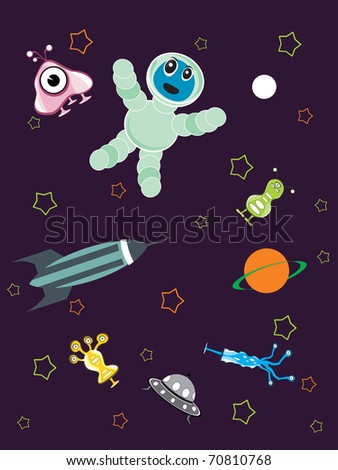 abstract universe pattern background, vector illustration