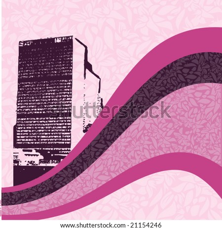 Abstract urban background. Vector illustration.