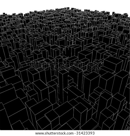 abstract urban city boxes from