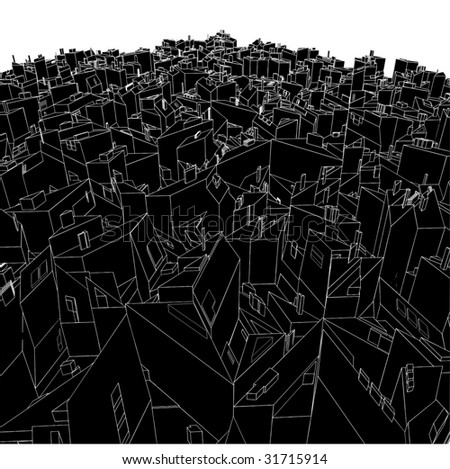 Abstract Urban City Boxes From Cube Vector 03