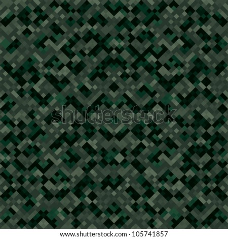 Abstract urban digital ornate pixels camouflage texture. Seamless tiling. Vector.