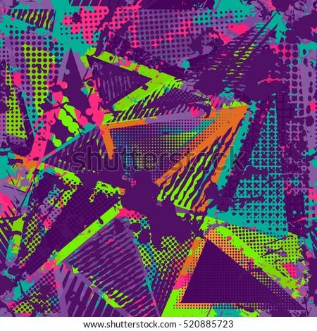 abstract urban seamless pattern