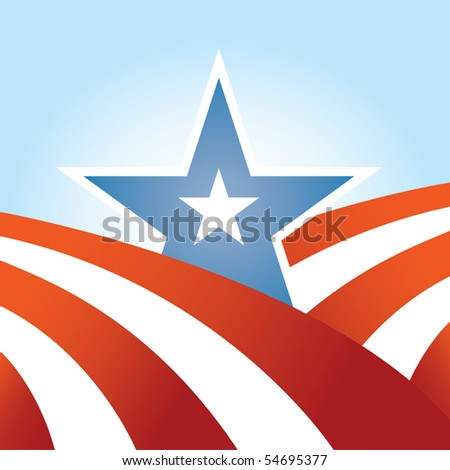 Abstract USA Flag Design