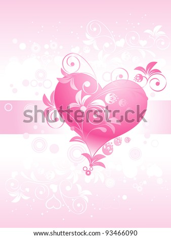 Abstract valentine, pink background