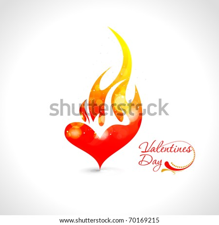 abstract valentines day fire