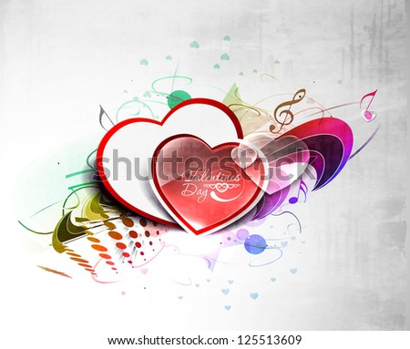 Abstract valentines day hearts, eps10 vector