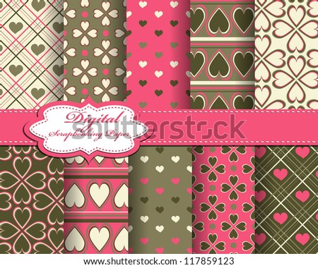 abstract Valentines day vector pattern background