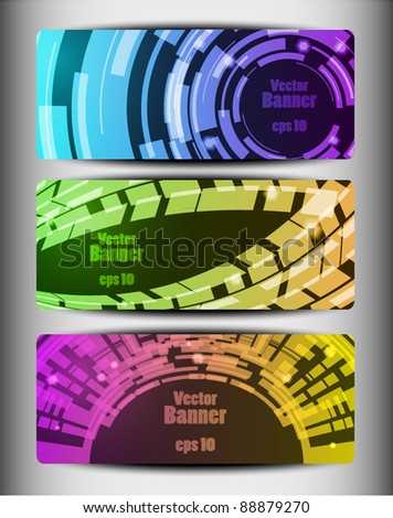 Abstract variegated vector banners