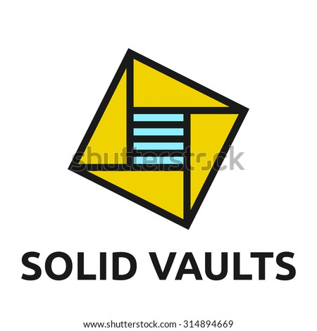 abstract vault logo template