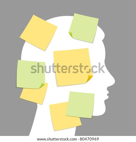 Abstract Vector Art - Notes and idea making
