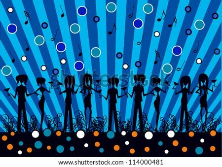abstract vector backdrop design
