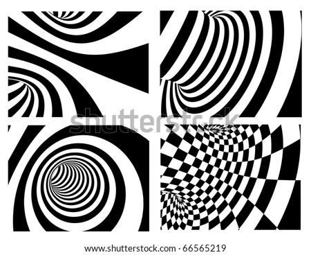 Abstract vector background - black and white