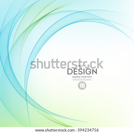Abstract vector background, blue and green waved lines for brochure, website, flyer design.  illustration eps10. Motion wave