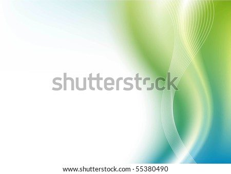 abstract vector background blue - green colors - stock vector