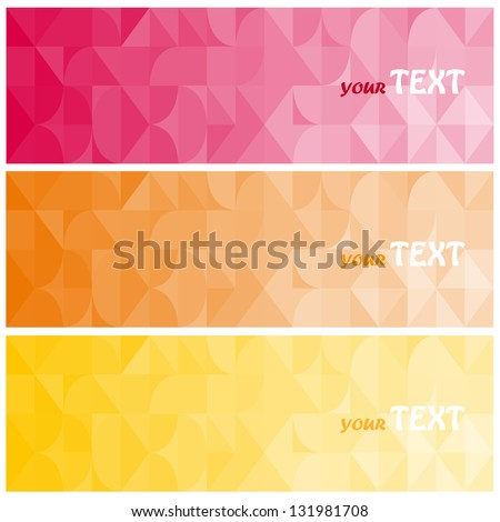 Abstract vector background brochure template. Set of abstract cards